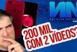 200 MIL INSCRITOS COM APENAS 2 VÍDEOS! | Notícias Notáveis