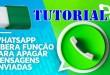 Como Apagar Mensagem Enviada no Whatsapp – Tutorial