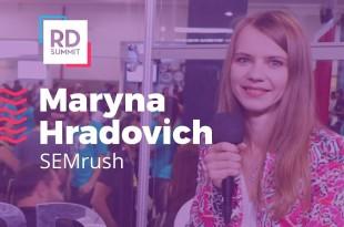 Maryna Hradovich: como se tornar um especialista em SEO   Studio RD Summit