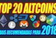 Top 20 Criptomoedas Altcoins Mais Recomendadas Para 2018